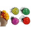 Großhandel Bälle & Schläger: Knautschball im Netz 4-fach sortiert - ca 6 cm