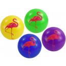 Großhandel Bälle & Schläger: Flamingo Ball 4-fach sortiert - im Netz ca 20 cm