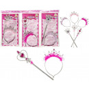 Princess set of hairband and scepter 3-fold sortie