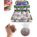 Großhandel Bälle & Schläger: Knautschball im Netz multifarben ca 60 mm