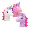 Finger puppet Unicorn 3- times assorted about 5cm