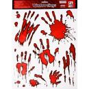 grossiste Farces et attrapes: Stickers  empreintes de mains sanglantes