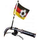 Großhandel Fanartikel & Souvenirs: Deutschland Fahrrad Fahne ca 15 x 20 cm