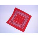 Großhandel Tücher & Schals: Bandana, rot, mit Druck, ca. 53 x 53 cm