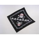 Großhandel Tücher & Schals: Bandana, schwarz, mit Druck, ca. 53 x 53 cm