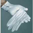 ingrosso Guanti: Coppia di guanti  di cotone, bianco, le donne di fo