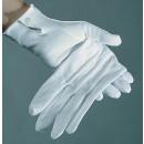 wholesale Gloves: Cotton gloves, white, men's sizes