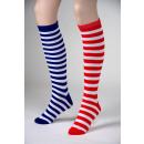 wholesale Toys: Ringel knee socks, blue / white