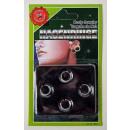 grossiste Piercing / Tatouage: Piercingimitate- 3  morceaux sur la carte ca 15x9,5