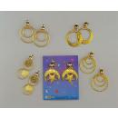 Großhandel Ohrringe: goldene Ohrringe, sortiert
