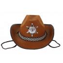 Cowboy hat brown for children