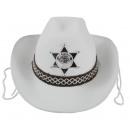 Cowboy hat white for children