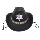 Cowboy hat black for children