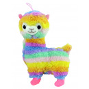 Alpaca Lama standing rainbow colored about 35 cm