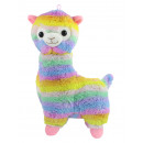 Alpaca Lama standing rainbow colored ca 55cm