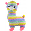 Alpaca Lama standing rainbow colored about 75cm