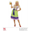 Großhandel Kleider: DIRNDL LILA/GRUEN (Kleid mit Schuerz)