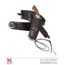 BROWN WESTERN GUN HOLDER leatherette