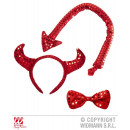 wholesale Toys: SET DEVIL FROM  PAILLETTE (horns, fly, tail