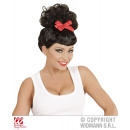 wholesale Skirts: BLACK ROCKABILLY PIN UP GIRL WIG WITH RED