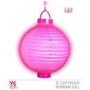 PINKFARBENER LIGHT-UP LAMPION MIT2 WEISSEN LED LIC