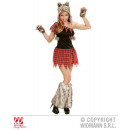 Großhandel Erotik-Accessoires: WOLF LADY (Kleid, ,Kopfbedeckung fingerlose Handsch