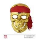 MÁSCARA EN FORMA DE Cráneo de los piratas en Golde