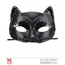 wholesale Toys: BLACK CATS EYE MASK with sequins