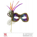 wholesale Toys: METAL ROSE FIDELIO  EYE MASK IN RAINBOW COLOR