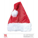 wholesale Toys: RED SEQUIN &  GLITTER SANTA CLAUS HAT