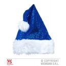wholesale Toys: BLUE SEQUIN &  GLITTER SANTA CLAUS HAT