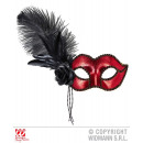 wholesale Toys: VENICE EYE MASK IN  METALLIC RED WITH ROS