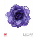 wholesale Artificial Flowers: BARRETTE WITH PURPLE ROSE ROSE AND GLITTER