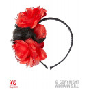 wholesale Toys: HEADGEAR WITH 3  BLACK AND RED ROSES WITH slid