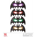 wholesale Toys: EYE MASK BAT WITH  GLITTER 4 color sorting
