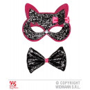 wholesale Toys: CATS EYE MASK AND  FLY WITH BLACK PINK slipped