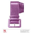wholesale Toys: PURPLE ROSE GLITTER BELT 120 cm