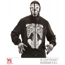 Großhandel Pullover & Sweatshirts: STRICKJACKE MIT KAPUZE & KNOCHENAUFDRUCK