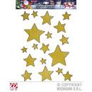 wholesale Other: WINDOW SPRAY GLITTER STAR GOLD 18pcs