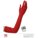 wholesale Toys: LONG RED GLOVES IN  ELASTANE 60 cm - fits