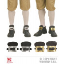 wholesale Toys: SHOE BUCKLES  leatherette - in 2 Farben sort .: 8 g