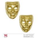 Gouden Masker plastic - soort in 2 modellen.