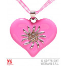 BAND CHAIN ​​PINK WHITE CHECKED WITH RHINESTONE HE