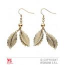 groothandel Oorbellen: Golden Earrings in Bladeren VORM