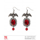 wholesale Jewelry & Watches: EARRINGS FLOWER MOUTH WITH RED JEWELS
