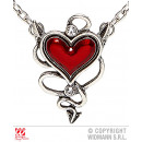 NECKLACE WITH RED HEART JEWEL FIENDISH
