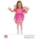 groothandel Speelgoed: KLEINE ROZE BLOEMENBEURS (jurk, vleugels)