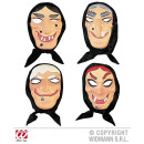 wholesale Toys: WITCH MASK  HEADSCARF plastic - in 4 model