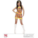 Großhandel Kleider: PEACE & LOVE GIRL aus Samt (Kleid, Gürtel, Stirnba