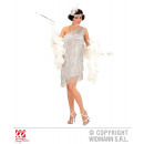 wholesale Toys: SILVER FLAPPER  (dress, chain, headband with feathe